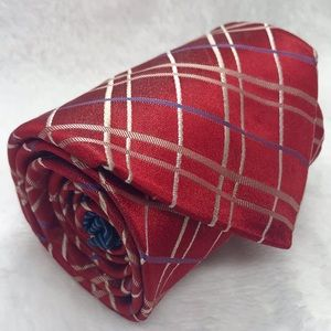 Tommy Hilfiger Red and Gold Classic Tie NWOT